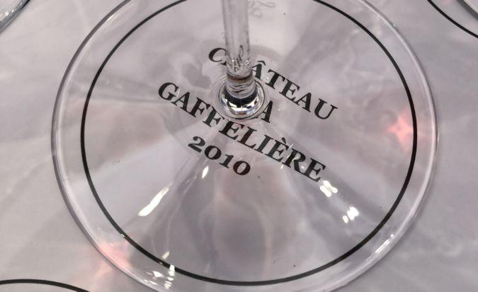 A Château La Gaffelière wine tasting mat