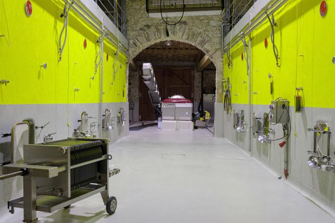 Inside John Hegarty's barrel room in southern France
