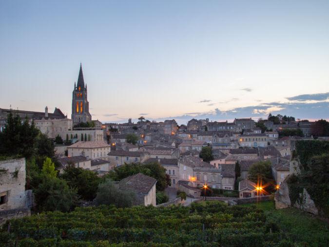 A view across the rooftops of St-Emilion Bordeaux