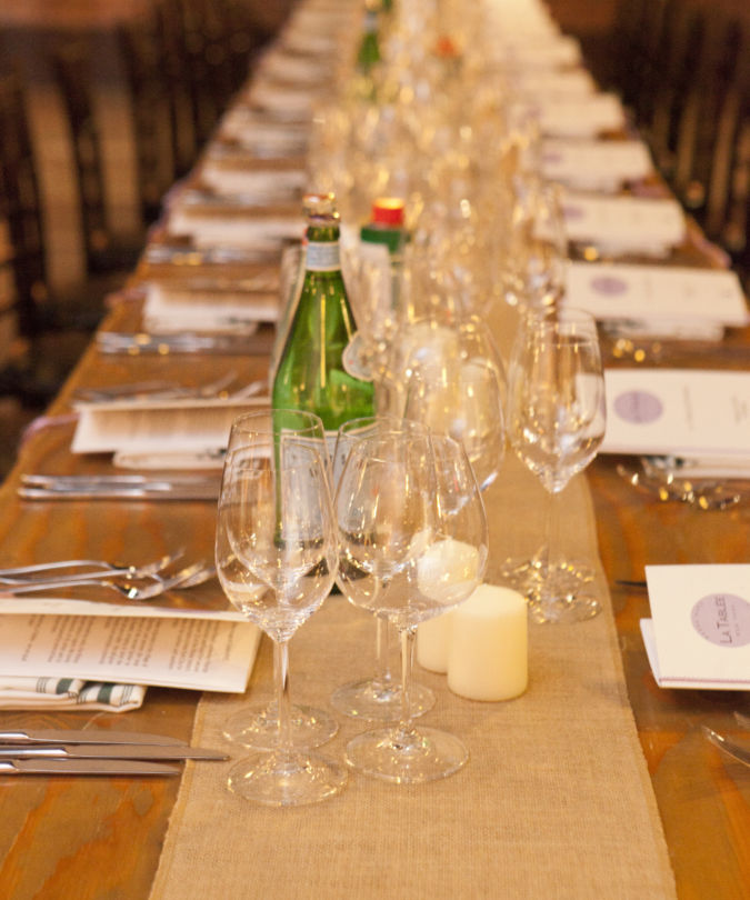 Dining table at La Tablée New York