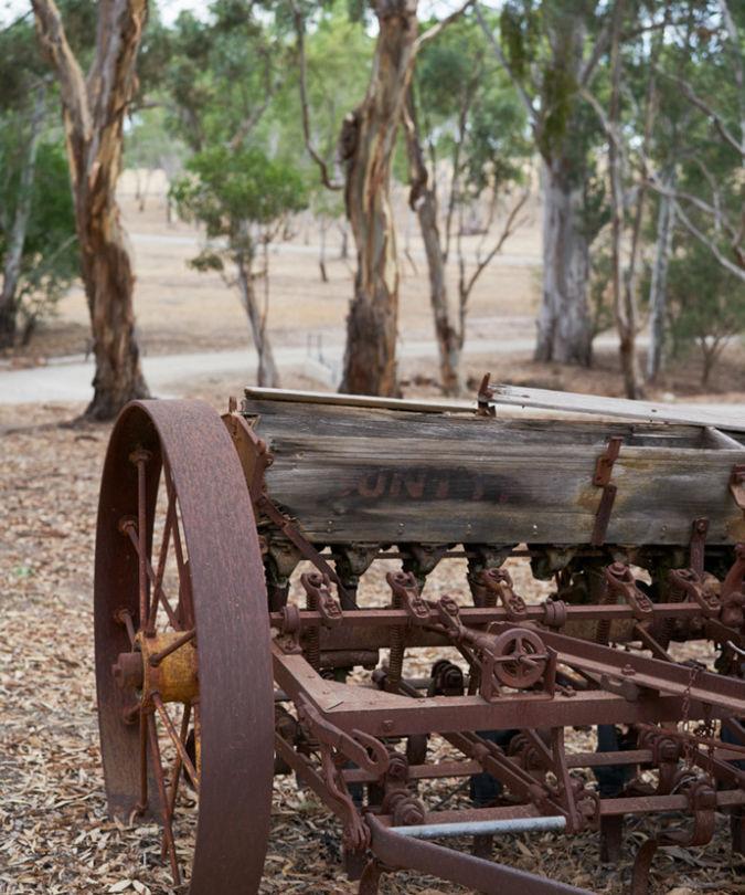 Old machinery at Wendouree that makes Australian Shiraz