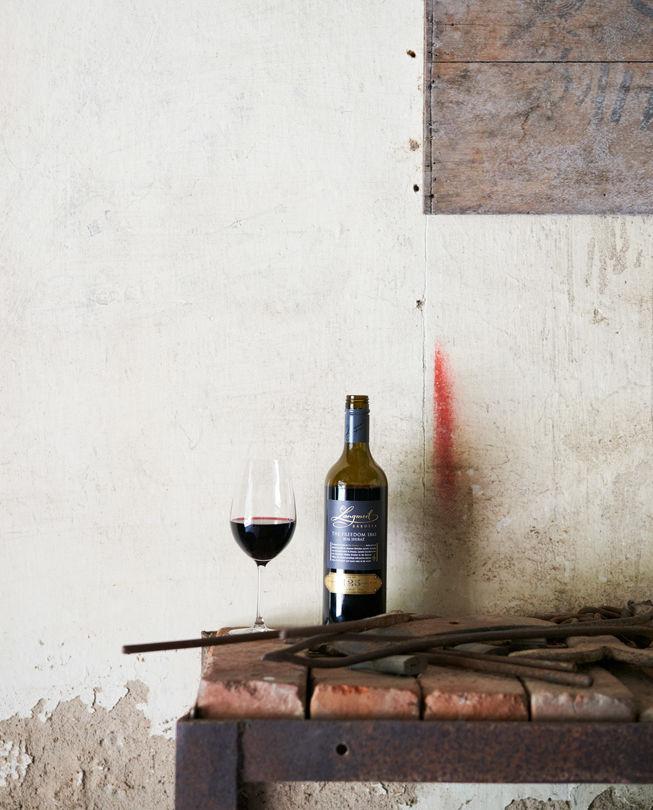 Langmeil wine bottle featuring Australian Shiraz