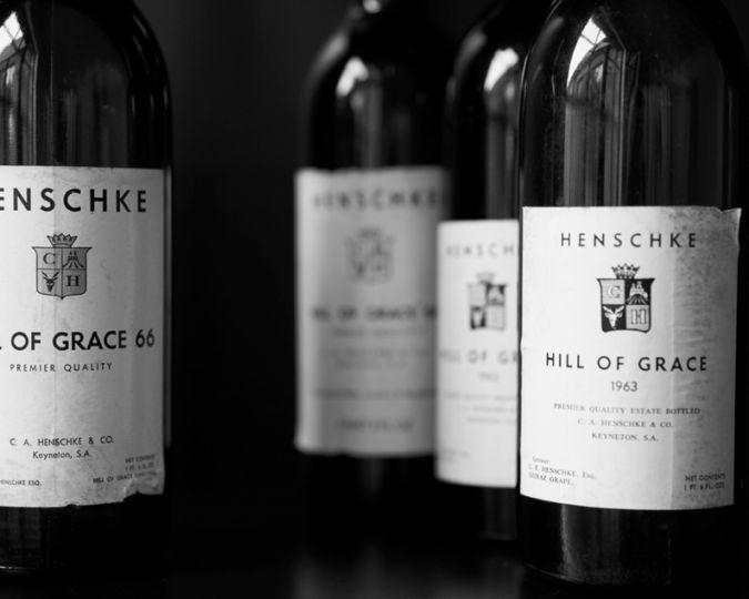Bottles of Henschke Hill of Grace