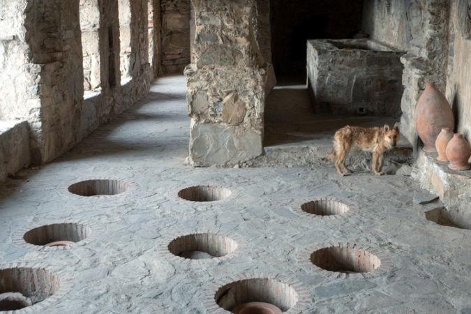 Old wine cellars in Kakheti