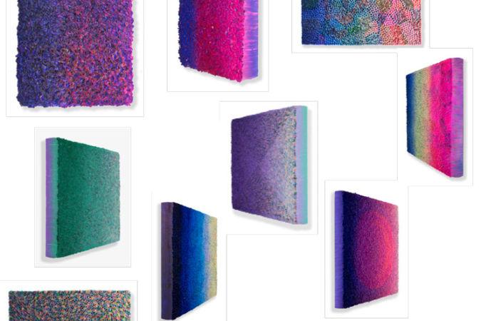 Changing Color series, Purple to Green (2018), by Zhuang Hong Yi