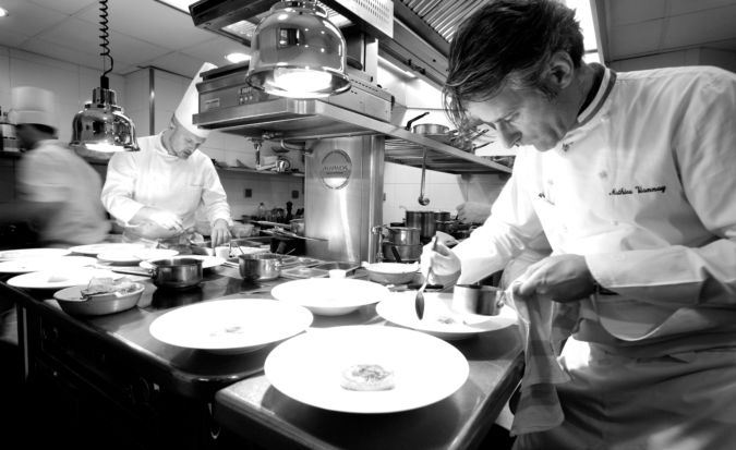 Scenes and dishes from La Mère Brazier, under chef Mathieu Viannay