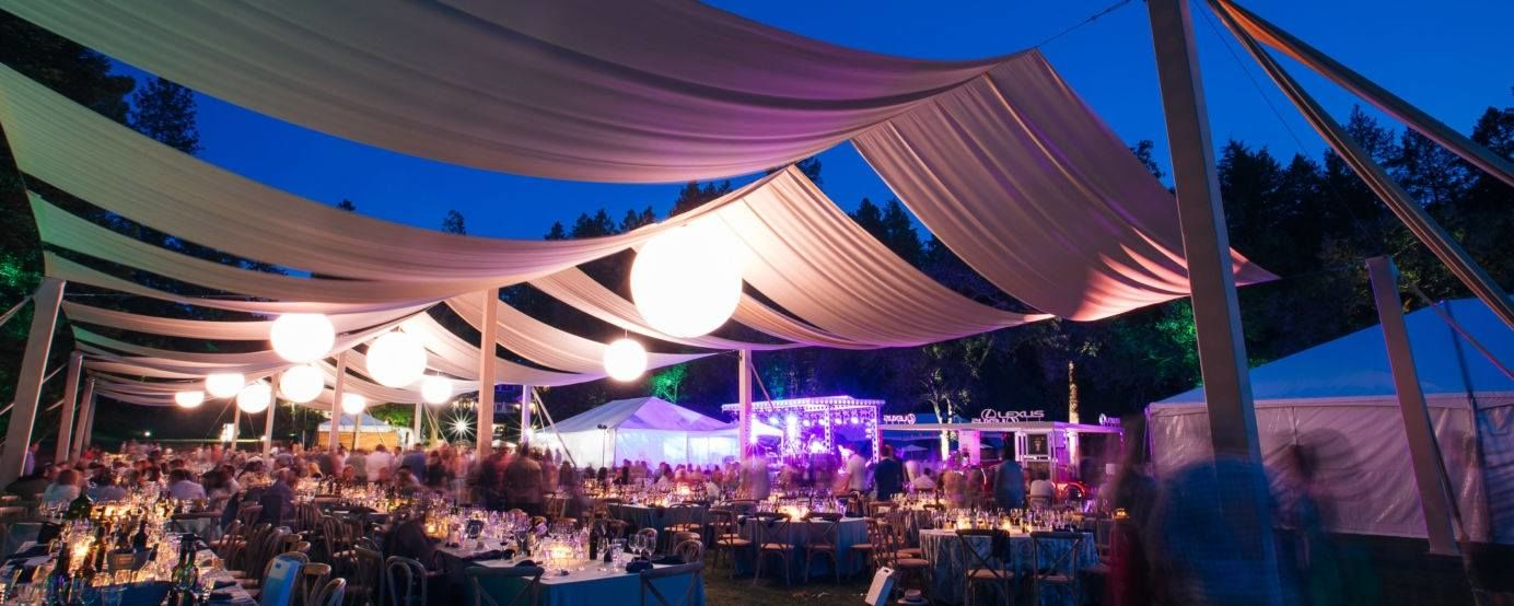 Dinner under the stars at Meadowood after Auction Napa Valley