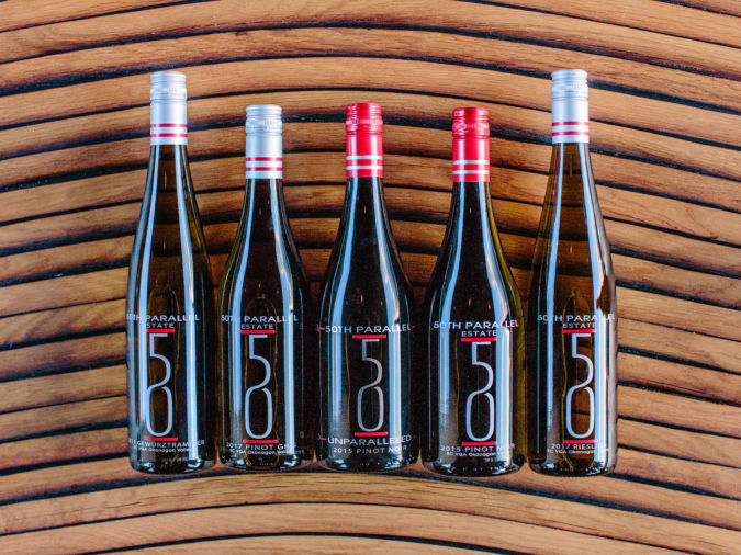 Block One wines at 50th Parallel Estate, Lake Country