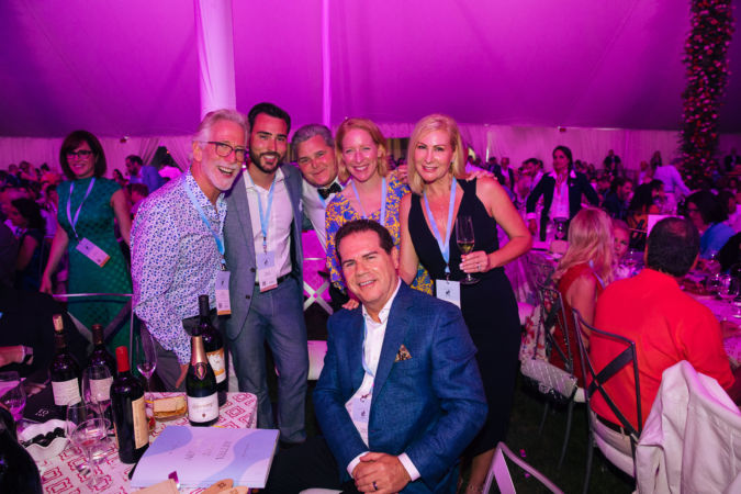 Tim Mondavi (left) and family celebrate Continuum's $500,000 hammer price