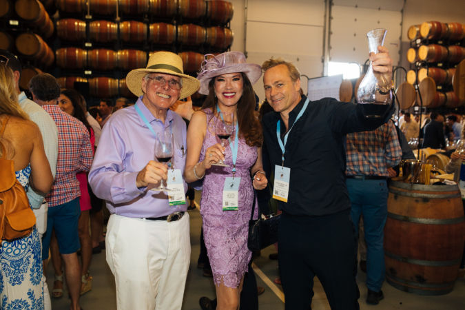 Jean-Charles Boisset (right) with Doug Gallagher and Princess Thi-Nga of Vietnam