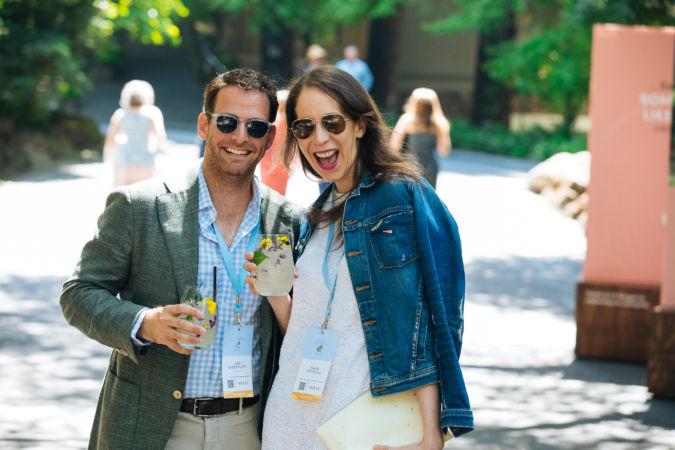 Jake Greenblatt of Style.com and Randi Friedman