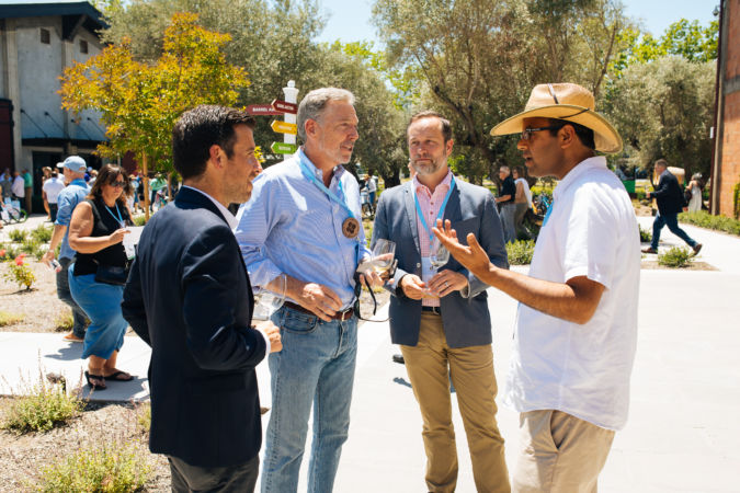 David Pearson of Opus One with guests