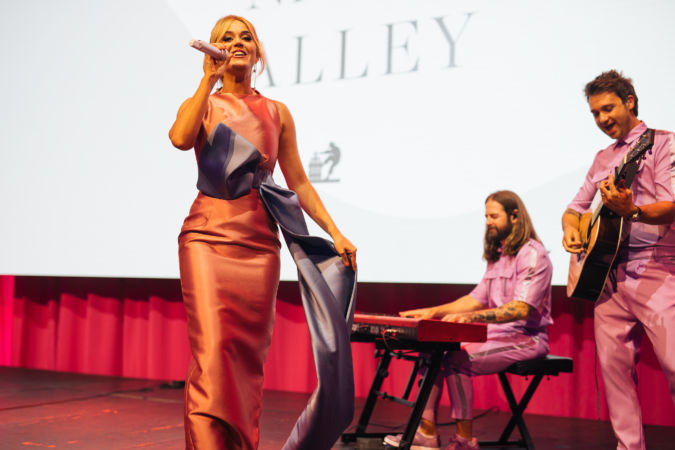 Katy Perry performing at the Live Auction Napa Valley