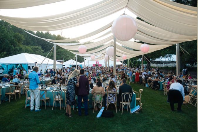 Dinner alfresco at Meadowood after Auction Napa Valley
