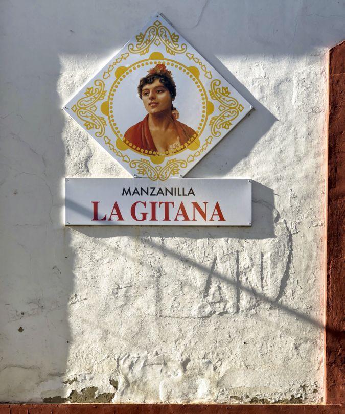 A sign for La Gitana at Bodegas Hidalgo