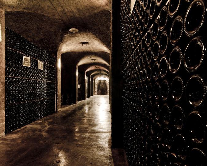 Franciacorta wine cellar in Monte Isolo, Italy