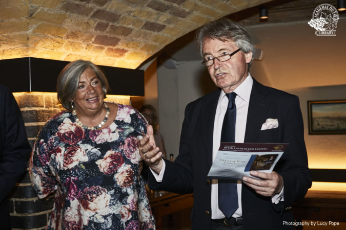 Fiona Morrison and Steven Spurrier of Academie du Vin Library