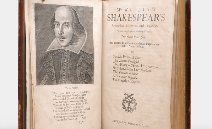 Rare book - Third Folio edition of Shakespeare's plays