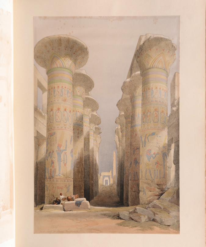 Rare books - A print from Egypt and Nubia by David Roberts