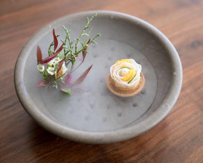 Geoduck sea urchin and citrus (Atelier Crenn)