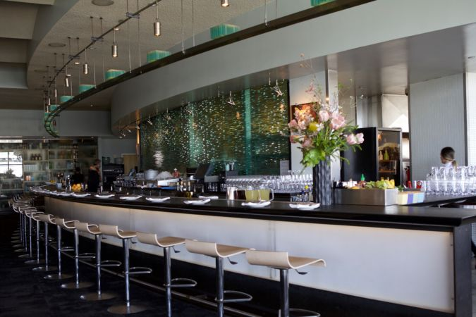 The bar at The Slanted Door
