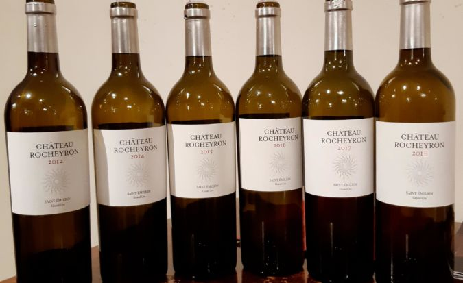 Wines from the Chateau Rocheyron masterclass with Peter Sisseck