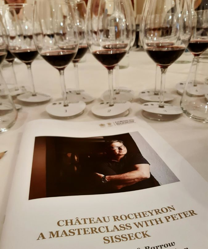 Chateau Rocheyron masterclass with Peter Sisseck programme
