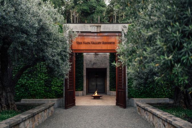 The entrance to Napa Valley Reserve