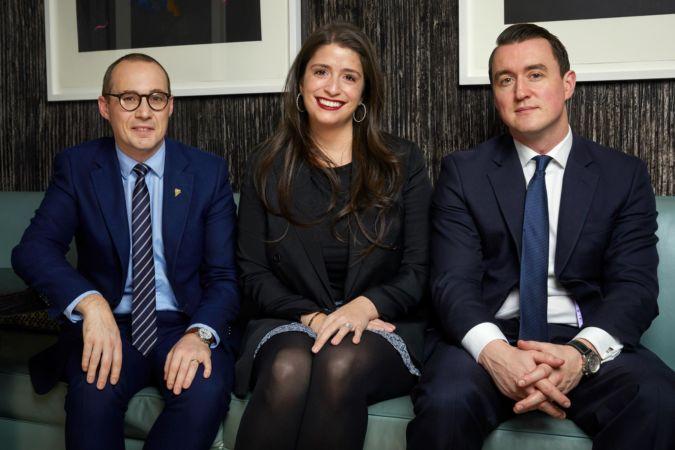 James Lloyd of Restaurant Gordon Ramsay, Alexandra Petit-Mentzelopoulos and Craig Norton of Fine+Rare