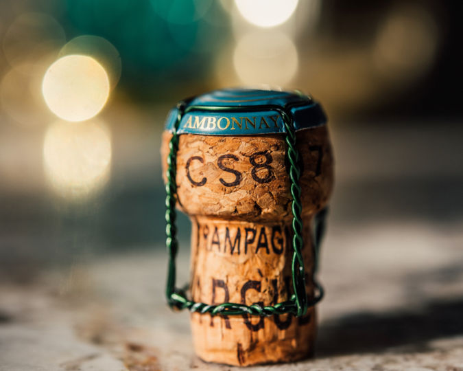 A Champagne cork at Ambonnay wine bar in Portland, Oregon