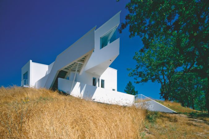 Prow-shaped extension on Villa Zapu designed by David Connor in the Napa Valley in California