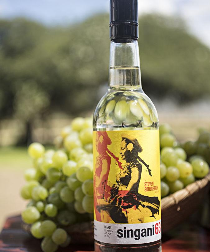 A bottle of Singani 63