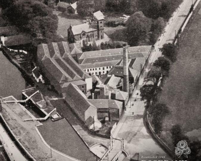 Old ariel view of Rosebank
