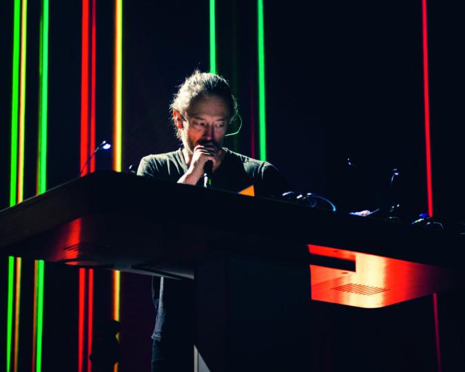 Thom Yorke performing in Milan, Italy