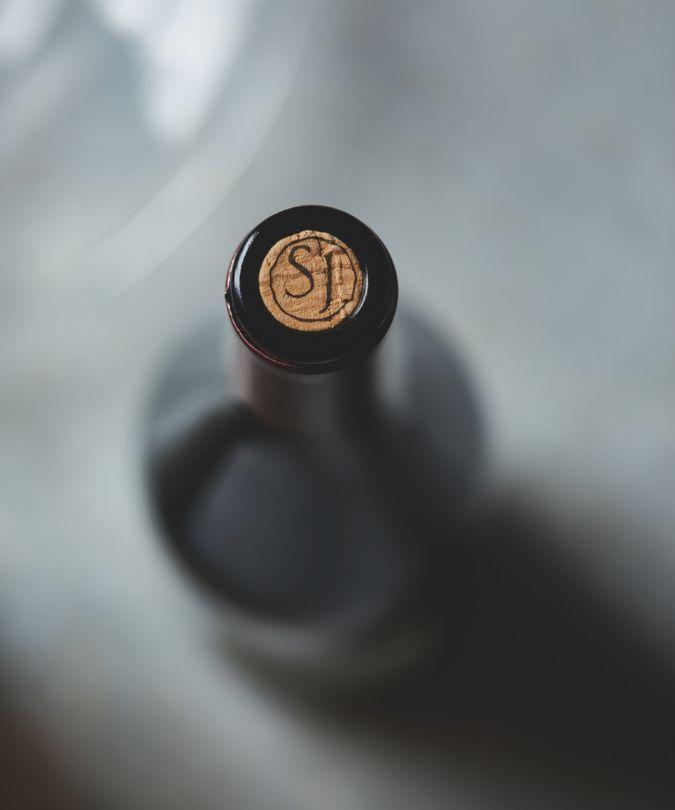 A bottle of St Joseph wine