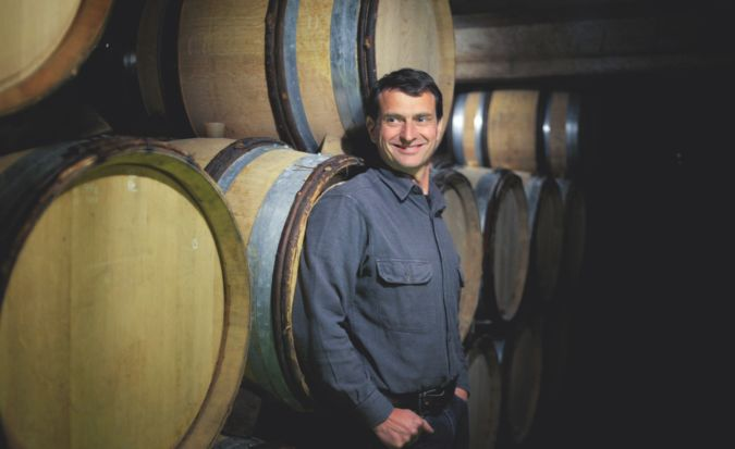 Jean-Louis Chave, a winemaker, in his wine cellar in St. Joseph, France.