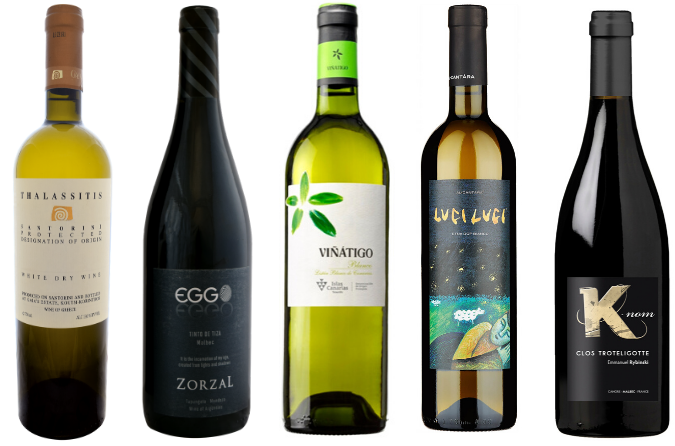 A selection of wines with minerality