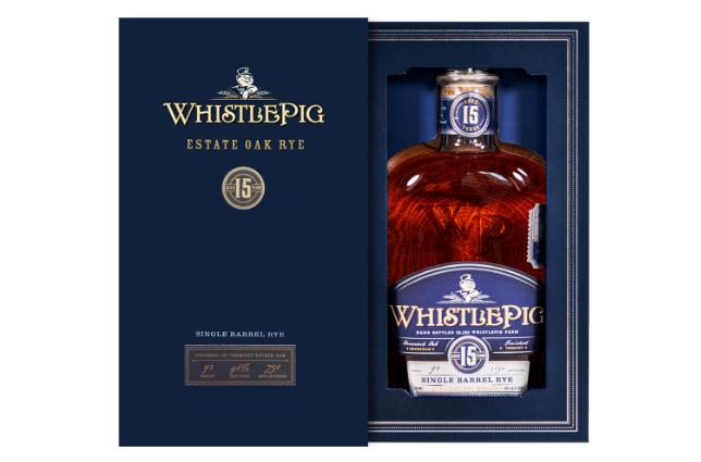 WhistlePig Estate Oak Rye whiskey sold at Fine + Rare