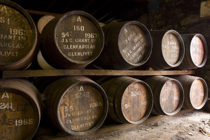 The Glenfarclas Family Cask whisky barrels