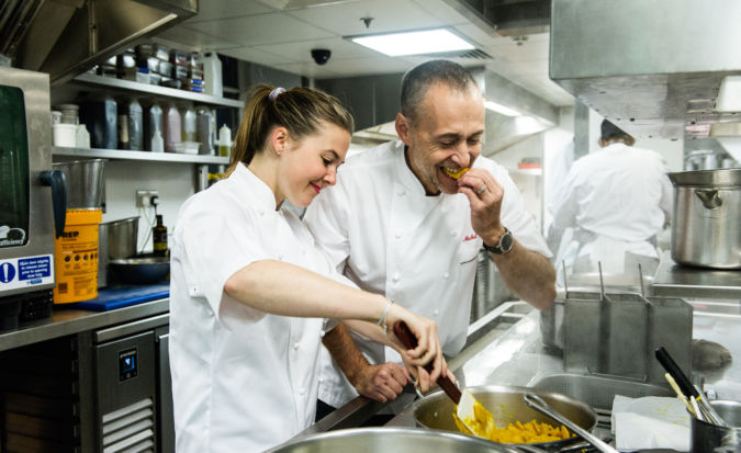 Emily Roux and Michel Jnr join forces at Le Gavroche restaurant