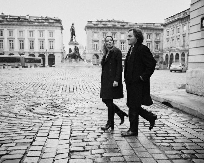 Vitalie and Pierre-Emmanuel Taittinger walking by Luc Valigny