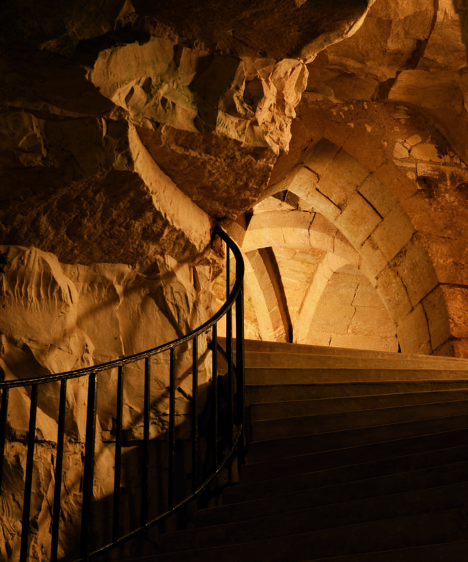The cellars at Champagne Taittinger