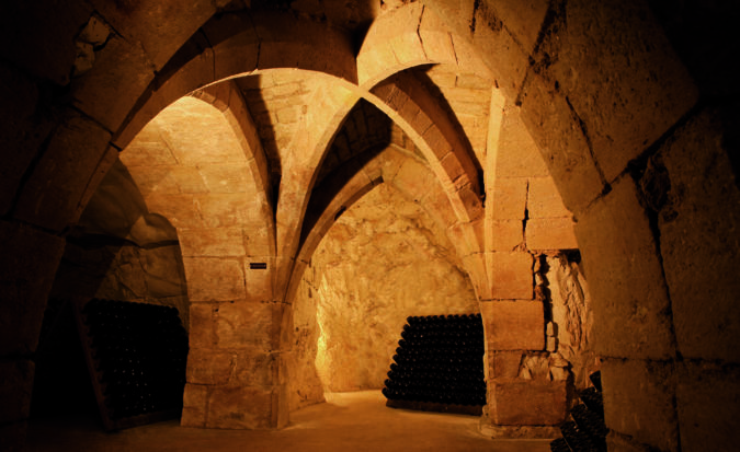 The cellars at Champagne Taittinger by Louis Teran