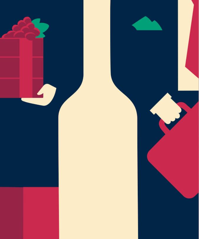 Bordeaux châteaux illustration by Noma Bar