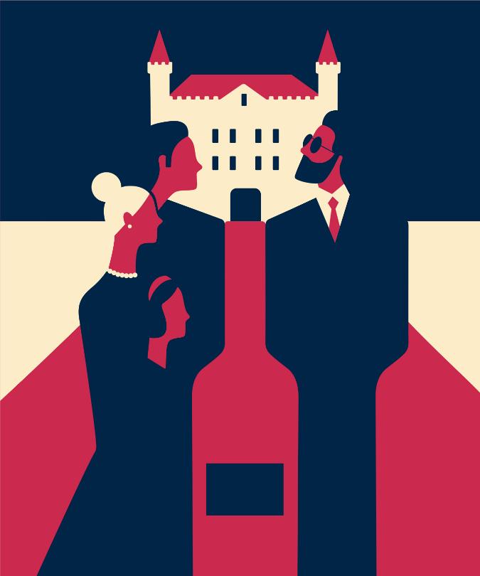 Bordeaux châteaux illustration