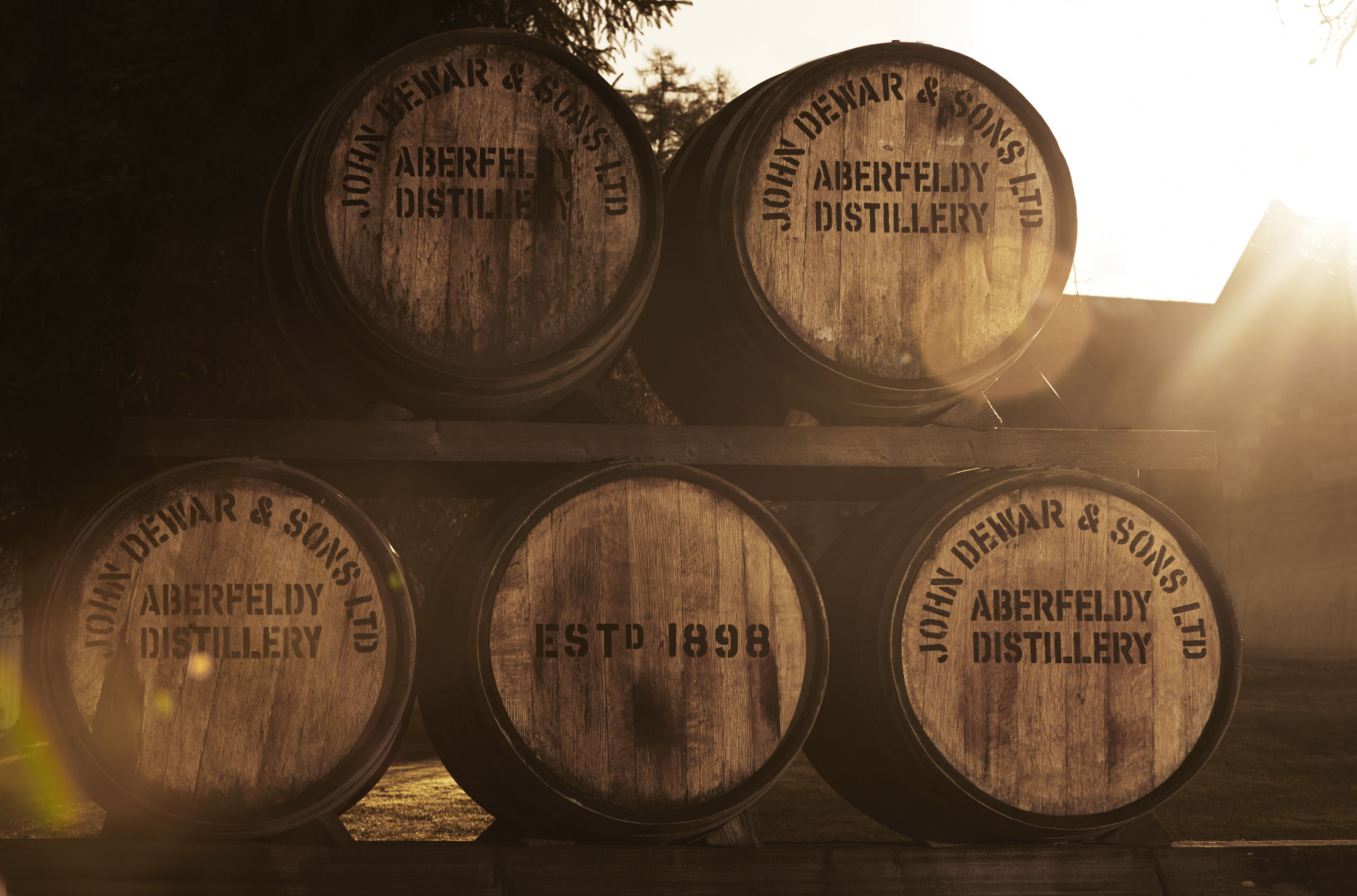 Casks of Aberfeldy Whiskey