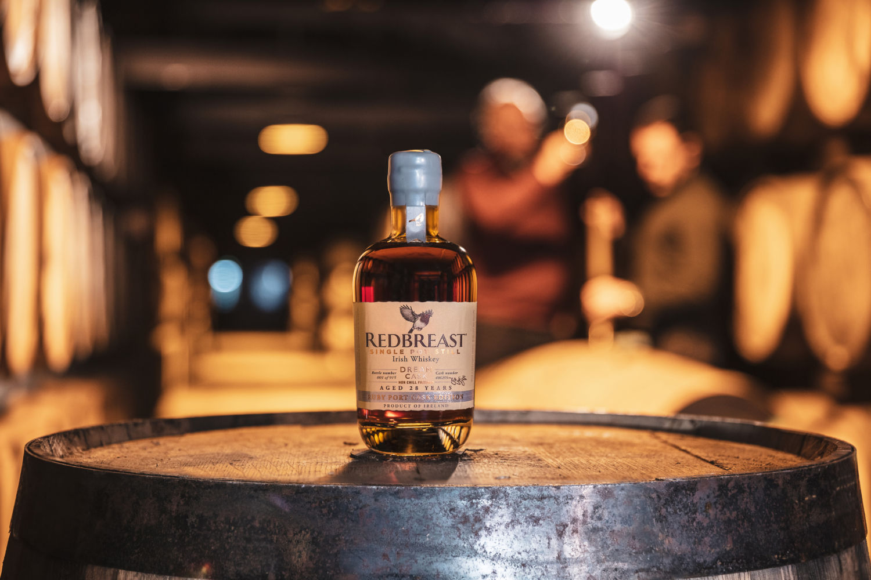 a bottle of Redbreast irish whiskey