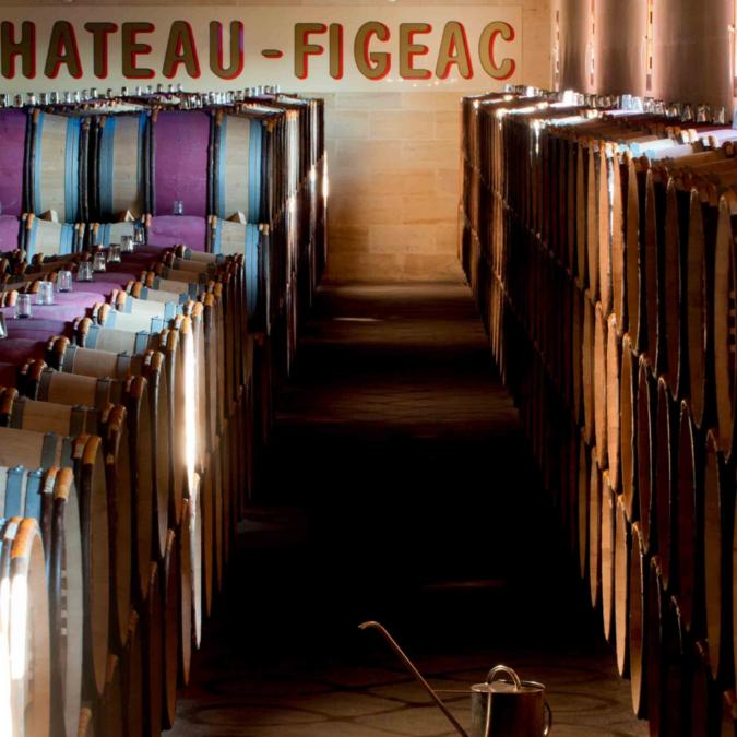 Chateau Figeac Vineyard Barrels