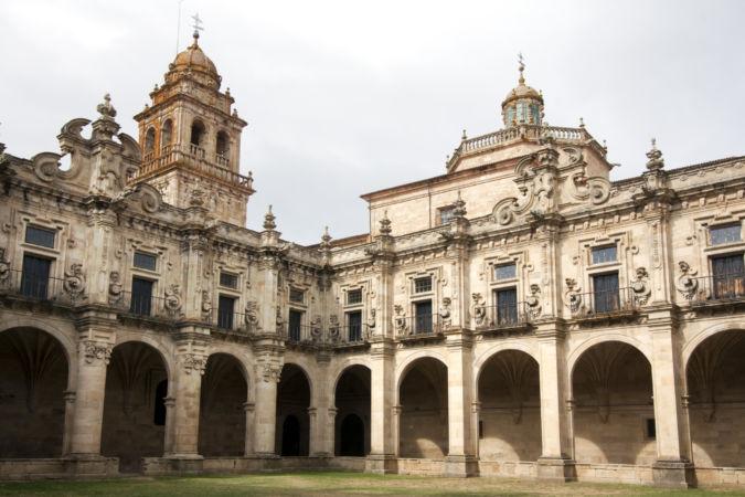 Celanova Monastery in Galicia, Spain.