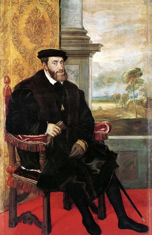 A portrait of Emperor Charles V